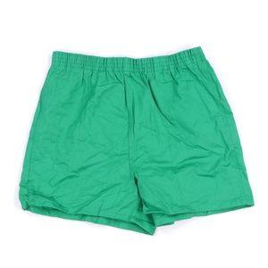 NOS 70s Sanforized Cotton Shots Green Adult Medium